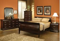 Picture of Louis Philippe Queen Cappuccino Bedroom Set