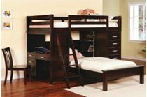 Picture of Twin Bunk bed workstation