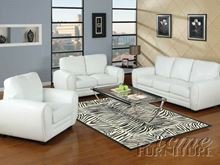 Picture of  Amber White Bonded Leather Set