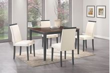 Picture of Black and White Brown 5 Piece Table & Chair Set