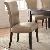Picture of Newbridge Upholstered Taupe Side Chair