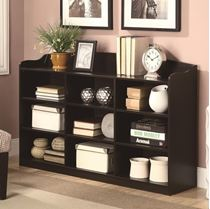 Picture of Bookcases 9 Cube with Top Rail