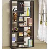 Picture of Bookcases Interjecting Shelf with Center Back Panel