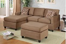 Picture of Saddle Sectional with ottoman &  accent pillows sofa set