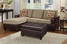 Picture of Pebble Sectional with ottoman &  accent pillows sofa set