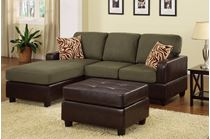 Picture of Sage Sectional with ottoman &  accent pillows sofa set