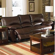 Picture of Brown Leather Double Reclining Sofa