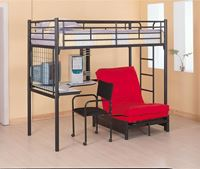 Picture of Bunks Twin Loft Bunk Bed with Futon Chair & Desk
