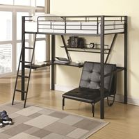 Picture of Bunks Twin Workstation Loft Bed and Convertible Chair