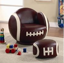 Picture of Kids Sports Chairs Small Kids Football Chair and Ottoman