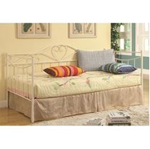 Picture of Daybeds by Coaster Twin Frida Daybed with White Metal Frame