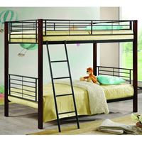 Picture of Bunks Twin/Twin Bunk Bed with Wood Posts & Metal Frame