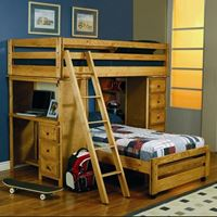 Picture of Bunks Twin Bunk Bed with Built-In Ladder