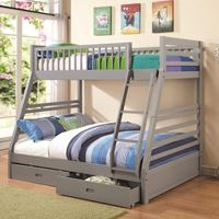 Picture of Bunks Twin over Full Bunk Bed with 2 Drawers and Attached Ladder