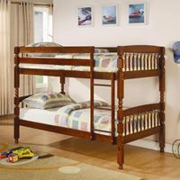 Picture of Bunks Twin Over Twin Bunk Bed-Chocolate